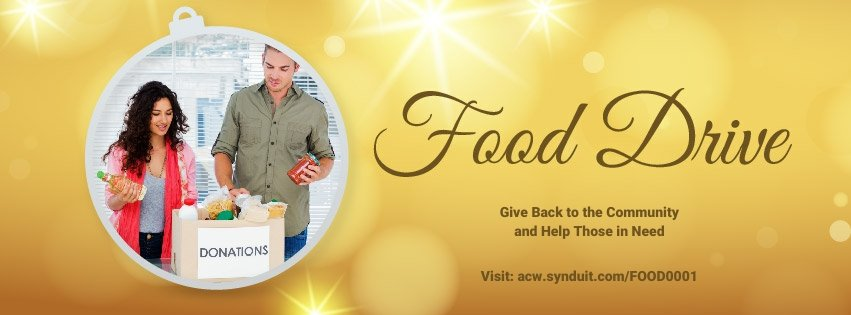 Food Drive Web Facebook Cover Photo